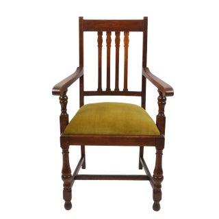 Vintage Wright Wood Armchair For Sale