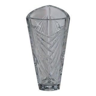 Galway Irish Tall Cut Glass Lead Crystal Vase For Sale