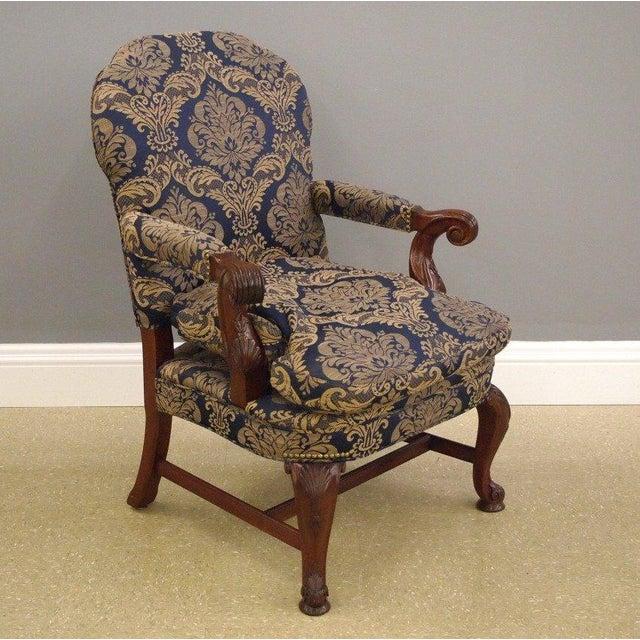 Mahogany Library & Wing Chair - Pair - Image 6 of 11