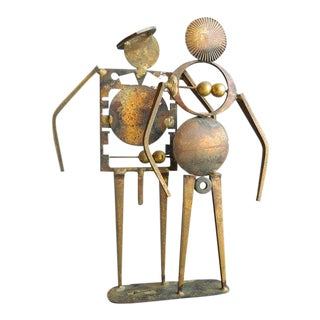 Final Markdown - Vintage William Bowie Distressed Metal Sculpture For Sale
