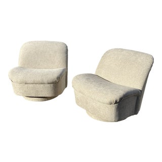 Vintage Vladimir Kagan Swivel Tilt Lounge Chairs - a Pair For Sale