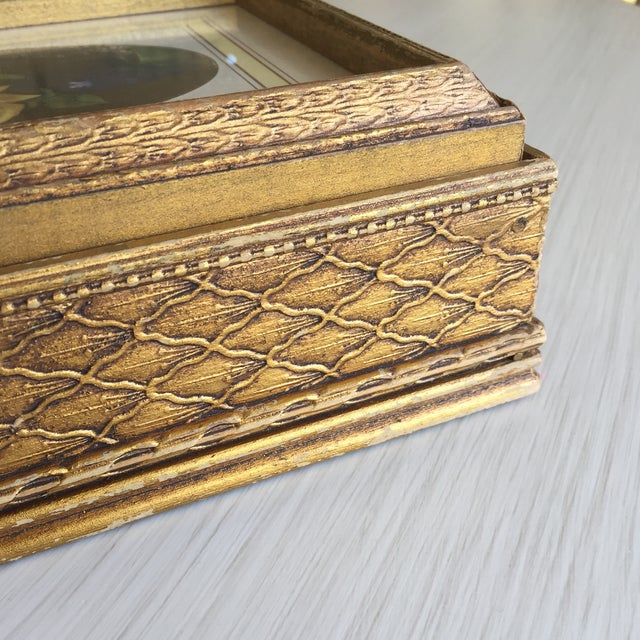 Antique Carved Wooden Jewelry Box - Image 10 of 11