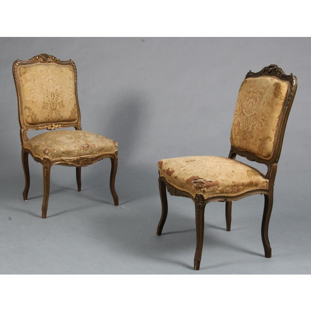 Gold Pair of Rococo Chairs Early 19th Century For Sale - Image 8 of 8