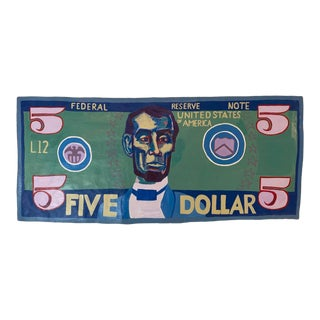 """Contemporary Large Original Pop Art Painting """"Abe"""" For Sale"""