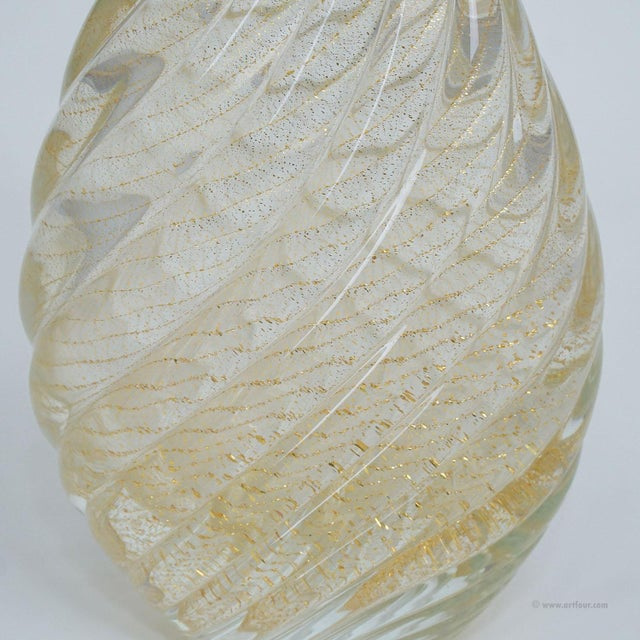 Mid-Century Modern Flavio Poli for Seguso Vetri d'Arte Vase Incrociato Oro 1949 For Sale - Image 3 of 9