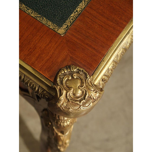 French Circa 1900 French Louis XV Style Bureau Plat Writing Desk For Sale - Image 3 of 13