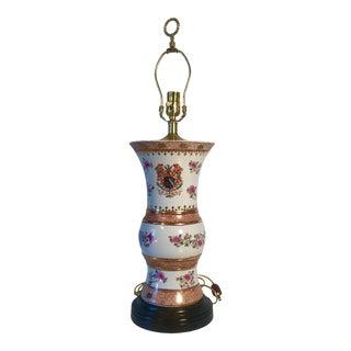 Asian Themed Porcelain Vase Table Lamp For Sale