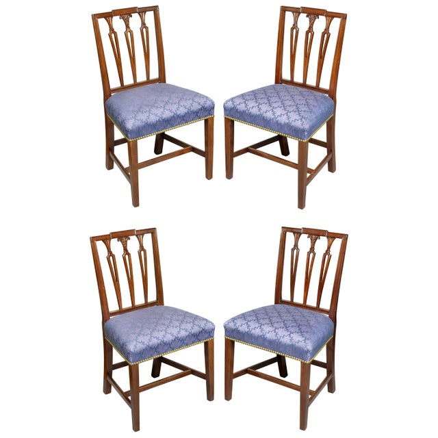 Federal Mahogany Side Chairs - Set of 4 For Sale - Image 10 of 10