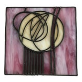 Image of Stained Glass Rose by Charles Rennie Macintosh, Reproduction For Sale