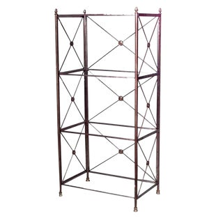 French Directoire Steel Bookcase For Sale