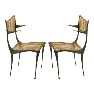 bronze Gazelle chairs Dan Johnson - Pair