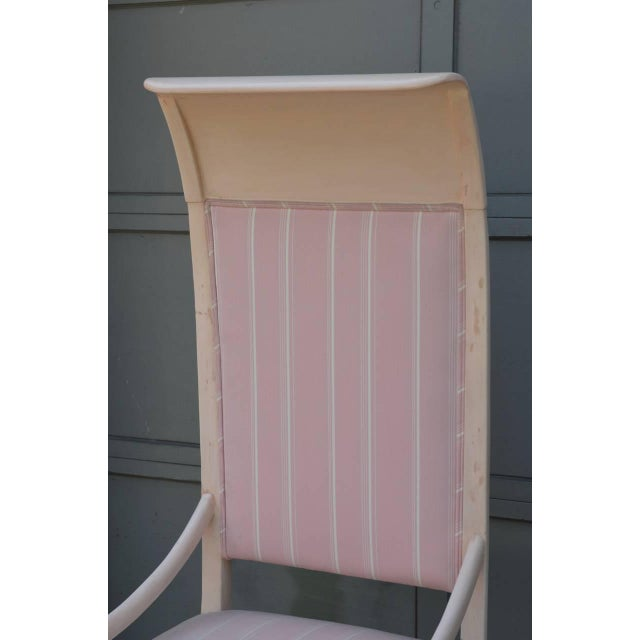 Whimsical Viennese Secessionist High Back Chair For Sale - Image 4 of 6