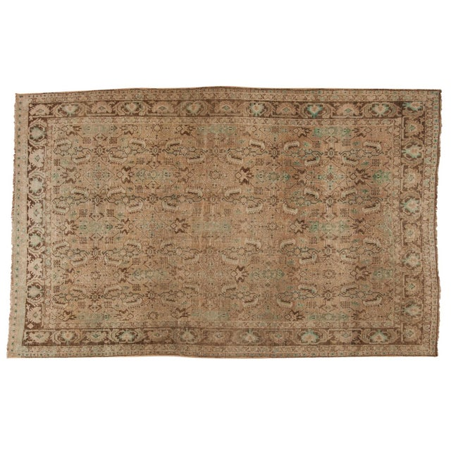 "Vintage Distressed Shiraz Carpet - 5'4"" X 8'3"" For Sale - Image 12 of 12"