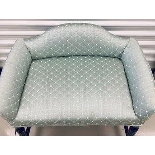 Vintage Silk Upholstered Vanity Bench Chair Preview