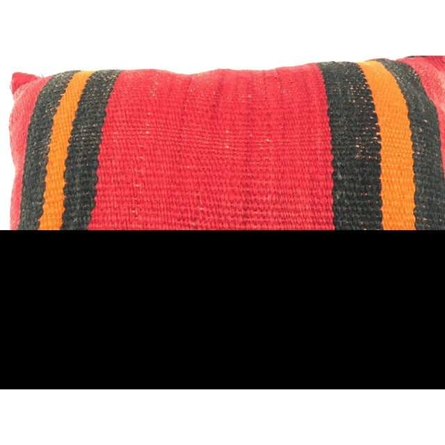 Moroccan Berber Handwoven Tribal Throw Pillow Made From a Vintage Rug For Sale - Image 4 of 6