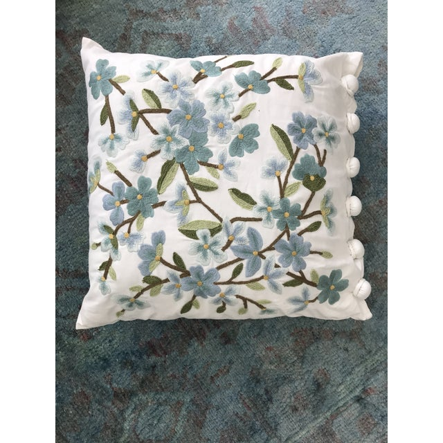 Set of 5 Floral Embroidered Throw Pillows - Image 5 of 5