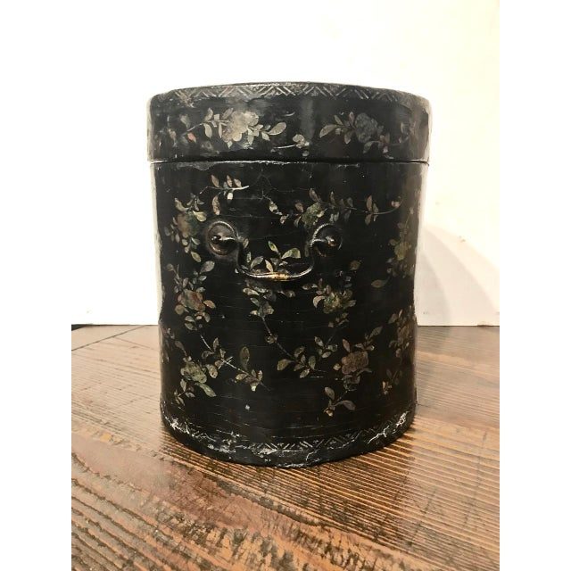 Mid 19th Century Chinese Coromandel Lacquer Hot Box, 19th Century For Sale - Image 5 of 10
