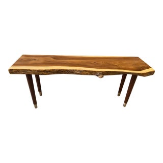 Live Edge Brown Bench For Sale