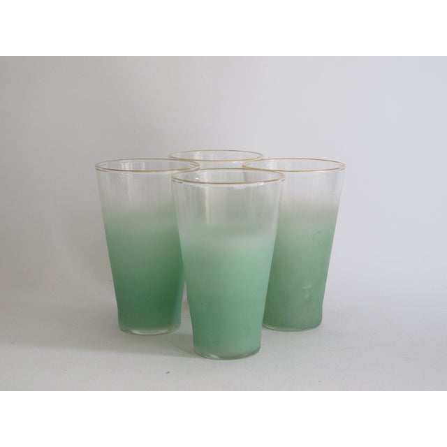 Green Glass Entertaining Pitcher & Glasses - Set of 5 - Image 4 of 6