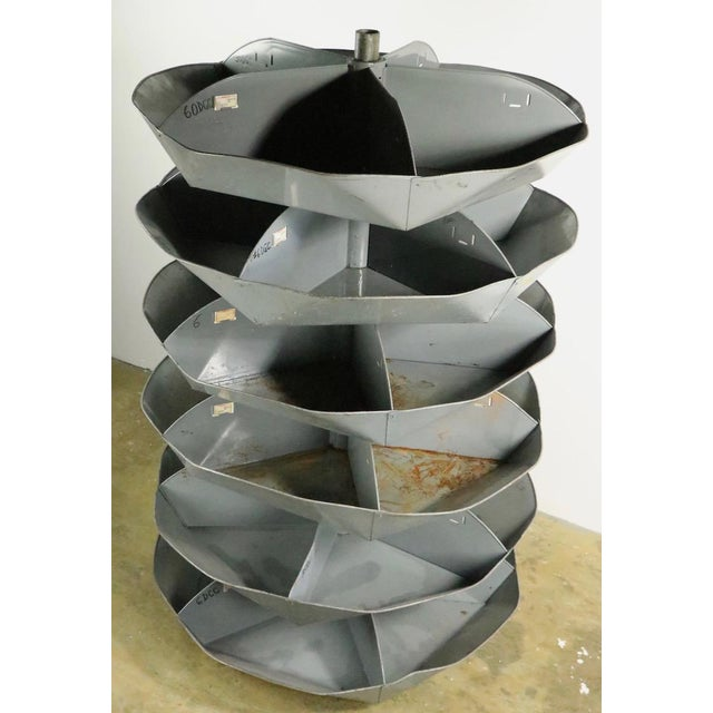 Gray Industrial Rotating Storage Bin by Frick and Gallagher For Sale - Image 8 of 10