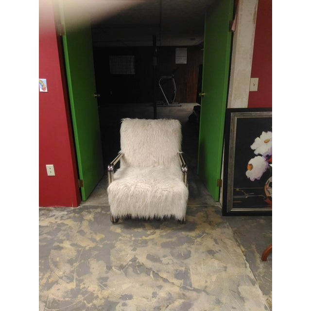 Faux Fur Chair For Sale In Saint Louis - Image 6 of 8