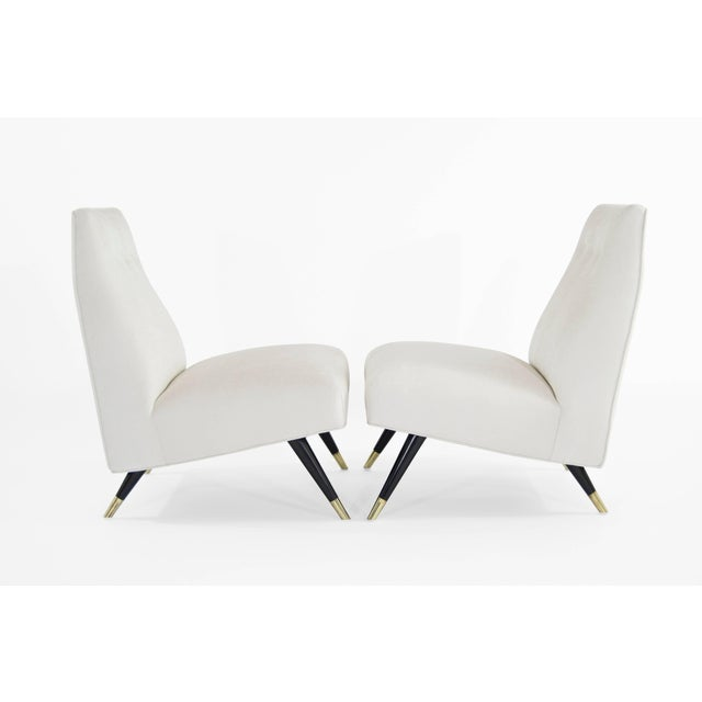 Mid-Century Modern Karpen of California Slipper Chairs, 1950s For Sale - Image 3 of 11