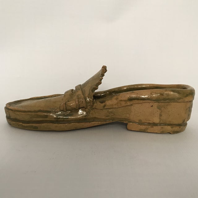 Pottery Loafer Sculpture For Sale - Image 4 of 11
