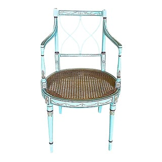 Antique Handpainted Sheraton Style Armchair