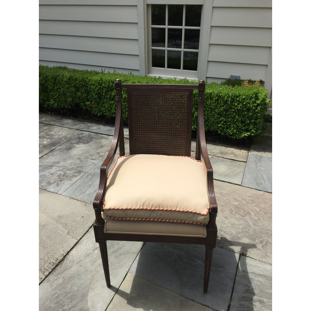 Art Nouveau Cane Backed Side Chair With Custom Cushion For Sale - Image 3 of 9