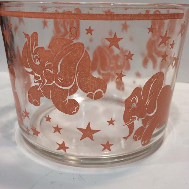Vintage Hazel-Atlas Glass Pink Elephant Ice Bucket & Tongs - Image 10 of 11