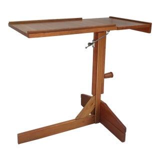 Mid-Century Danish Teak Wood Adjustable Table Music Stand For Sale