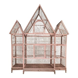 Pink Chateauesque Birdcage For Sale