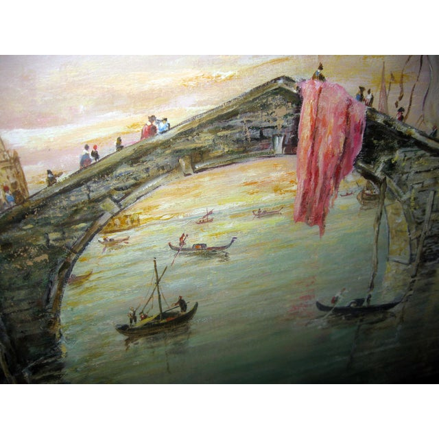 Italian Late 20th Century Valerio Zerbo San Marco Piazza Large Oil Painting For Sale - Image 3 of 12