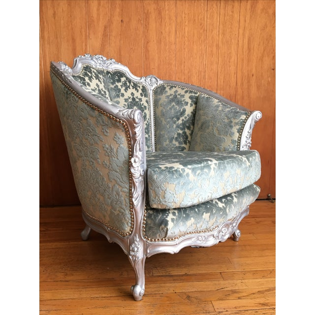 Victorian Carved Barrel Back Chair - Image 3 of 6