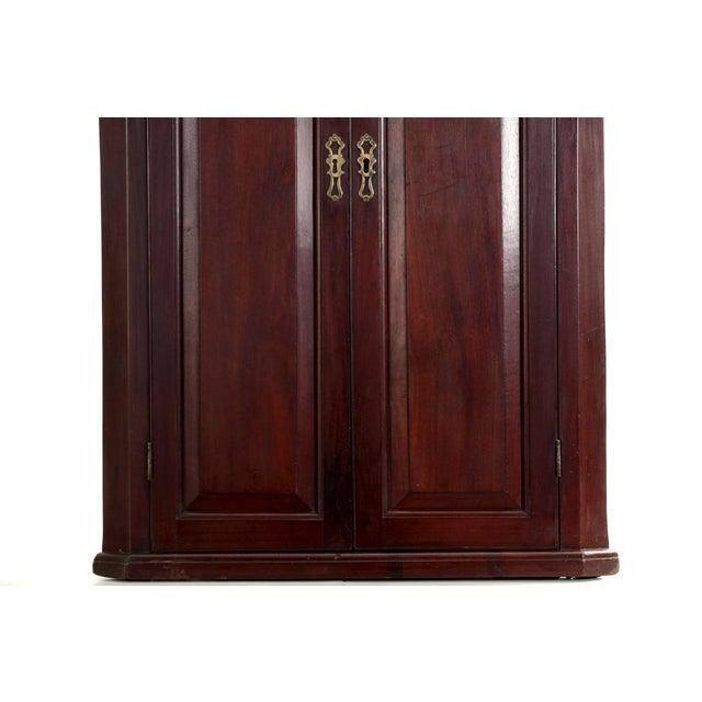 19th Century English Georgian Mahogany Hanging Corner Cabinet Cupboard For Sale - Image 4 of 11