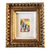 Image of Vintage Original Miniature Ralph Nelson Abstract Painting Vintage Frame 1950's For Sale