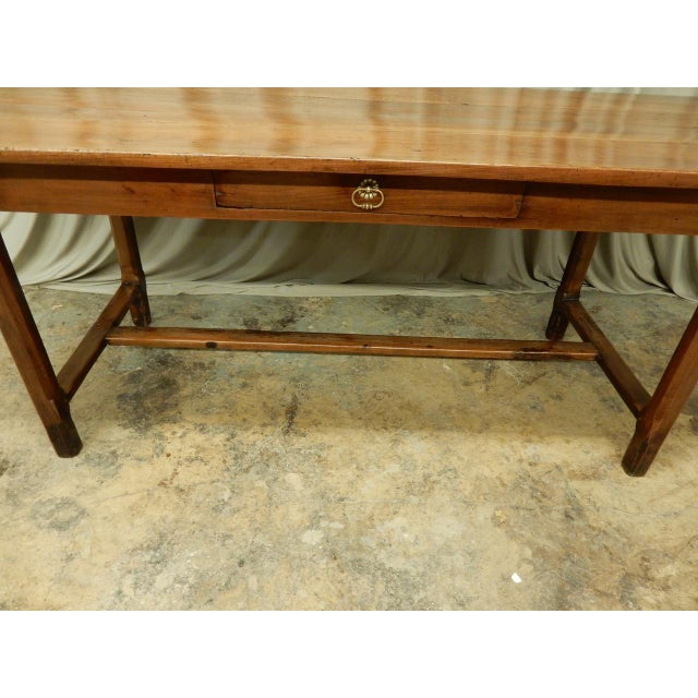 Walnut 19th Century French Walnut Farm Table For Sale - Image 7 of 10