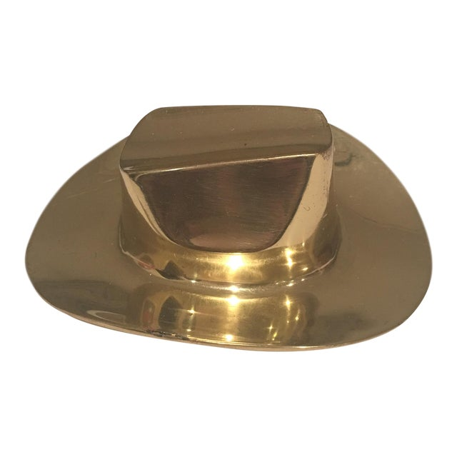 Brass Hat Paper Weight For Sale