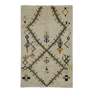 Contemporary Moroccan Style Rug with Tribal Design For Sale