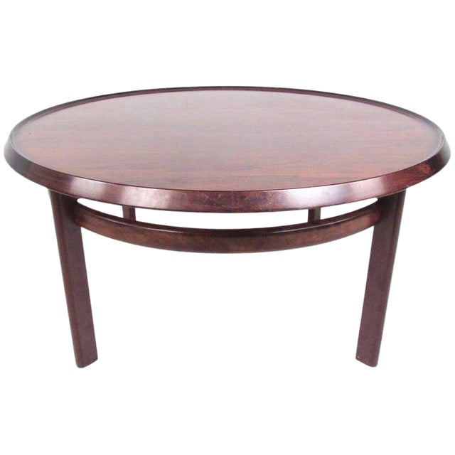 Vintage Scandinavian Rosewood Coffee Table by Haug Snekkeri for Bruksbo For Sale