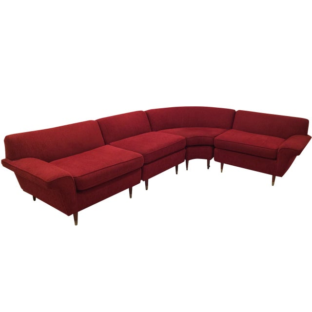 Mid-Century Four-Piece Sectional - Image 1 of 4