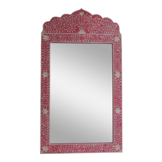Pink Bone Inlay Wall Mirror For Sale
