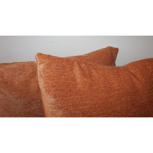 Pair of Peachy Velvet Pillows For Sale - Image 4 of 6