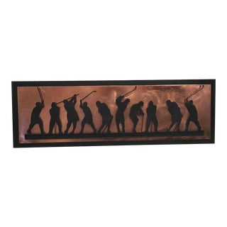 Curtis Jere Signed Golfing Wall Decor For Sale