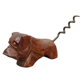 Mid-Century Bull Dog Corkscrew For Sale