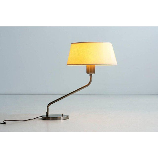 Vintage 1960s Walter Von Nessen Table Lamp With Shade For Sale In Los Angeles - Image 6 of 9