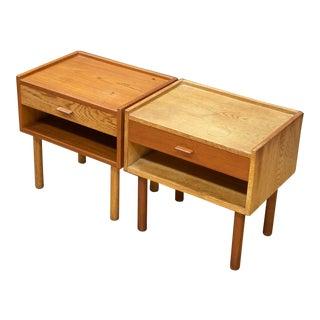Mid Century Modern Hans Wegner Bedside Nightstand -a Pair