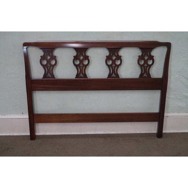 Ethan Allen Georgian Court Chippendale Headboard - Image 7 of 10