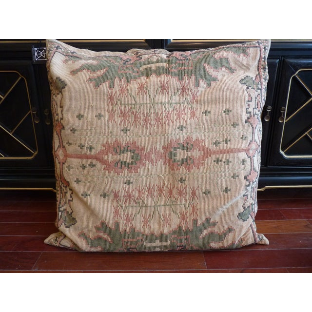Flat Weave Tapestry Floor Pillow - Image 2 of 5