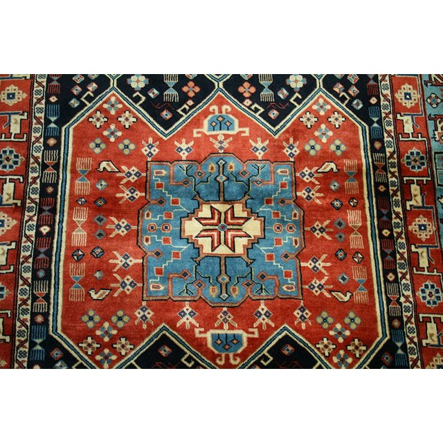 """Traditional Primitive & Tribal Persian Ghochan Rug, 4' x 5-9"""" For Sale - Image 3 of 4"""